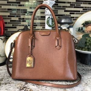 Brown Ralph Lauren handbag